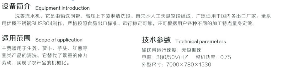 生姜清洗流水线1
