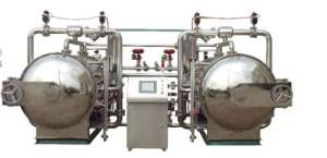 双锅并联水浴式高温高压调理杀菌锅(全/半自动型)