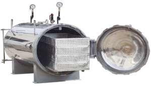 热水蒸汽式杀菌锅